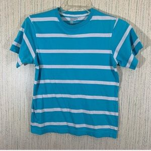 Old Navy Girls Blue White Striped T-Shirt 10/12 L